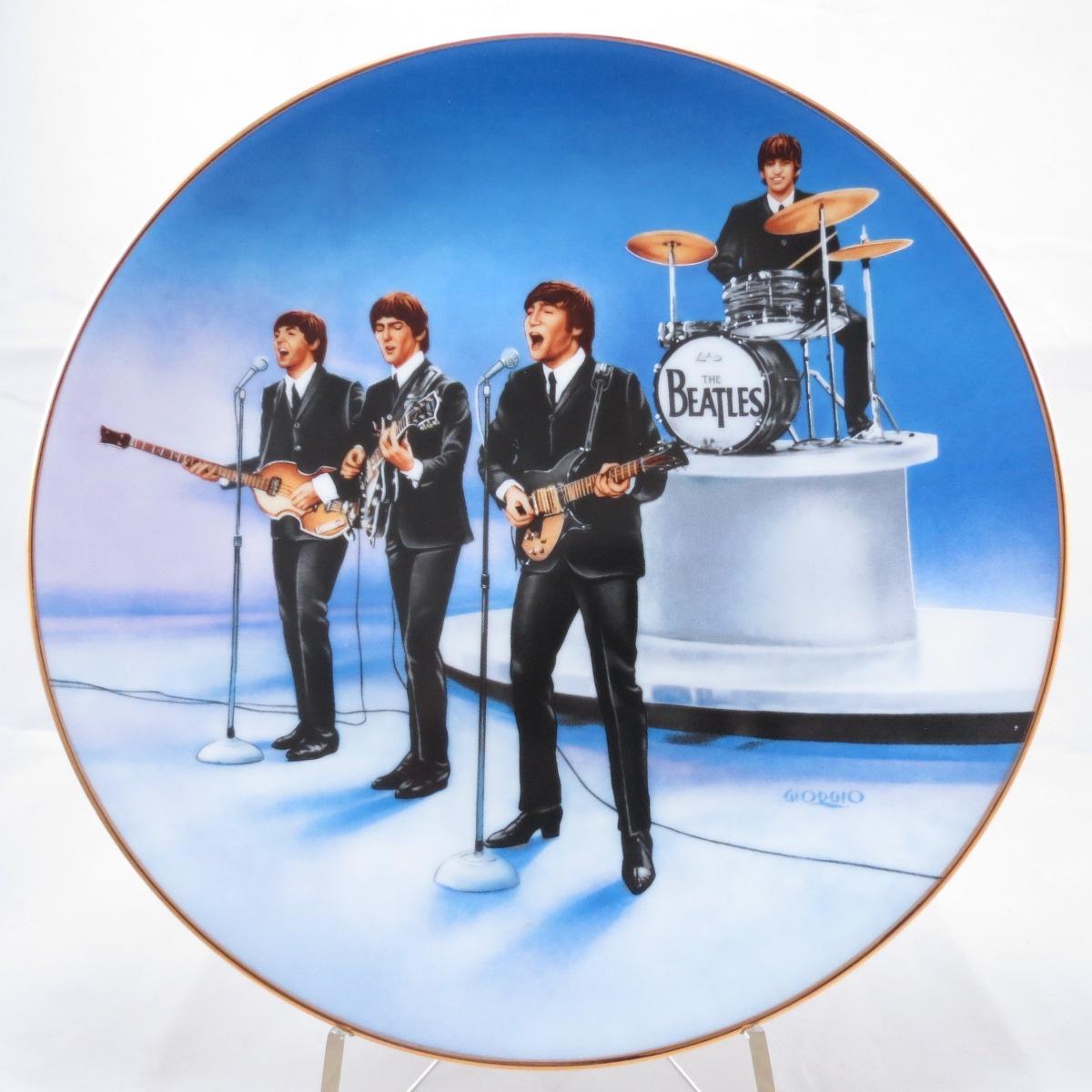 "Декоративная коллекционная тарелка ""The Beatles (Битлз). Live in Concert"". Фарфор, деколь. США Delphi, 1991г."