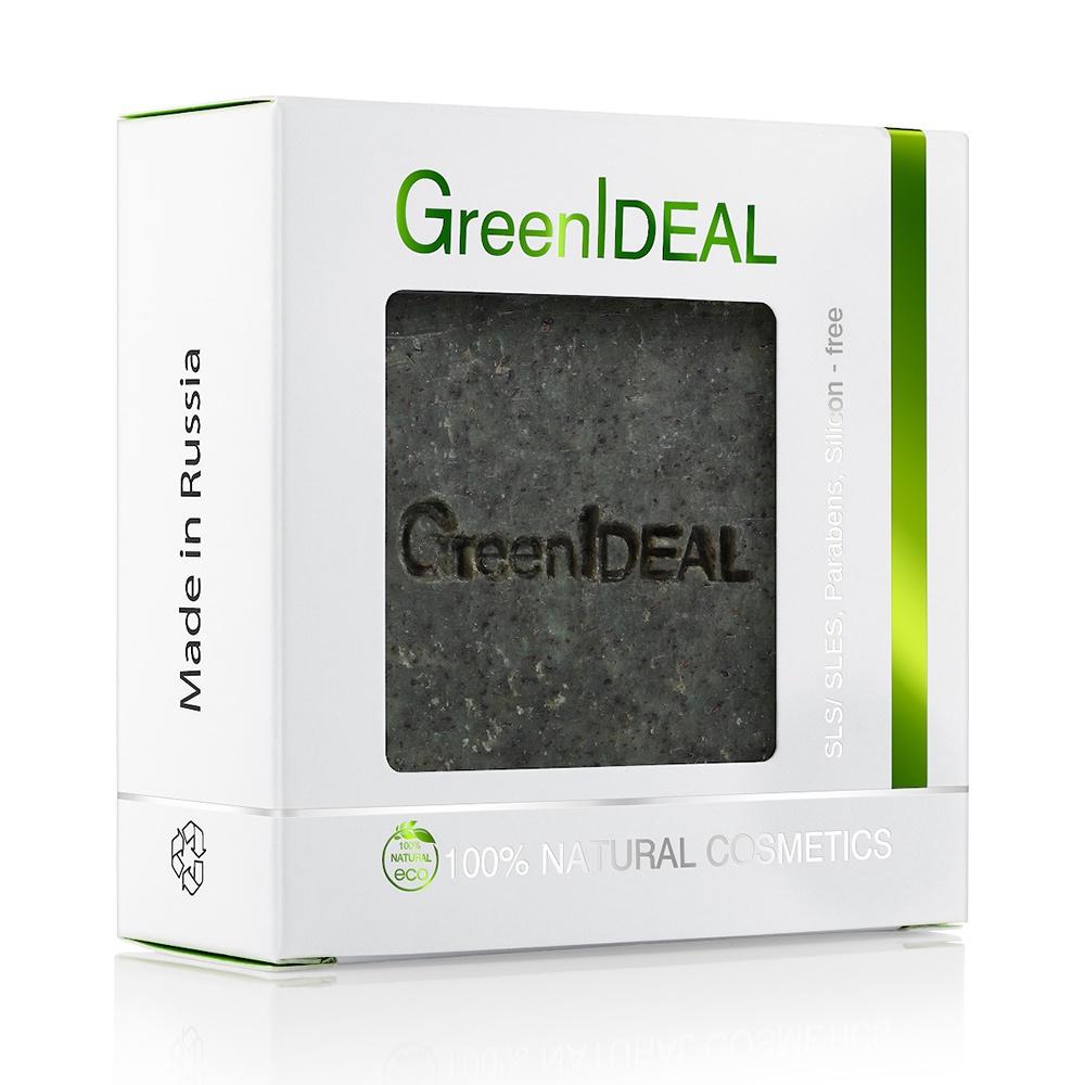 Мыло косметическое GreenIdeal Мыло твердое мятное (натуральное, ручной работы, скраб) недорго, оригинальная цена