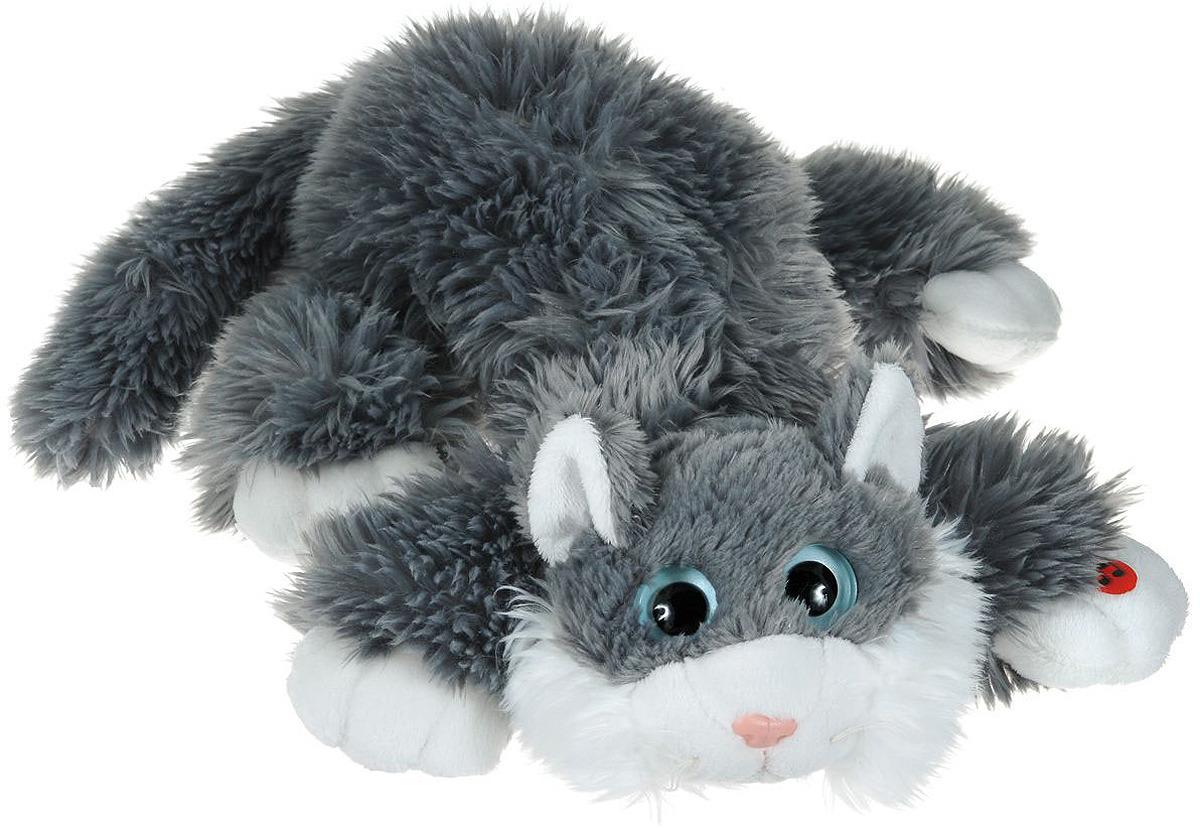 Gulliver Мягкая игрушка Котик Шалунишка, 30 см Цвет: серый gulliver мягкая игрушка ждун жду пятницу 30 см
