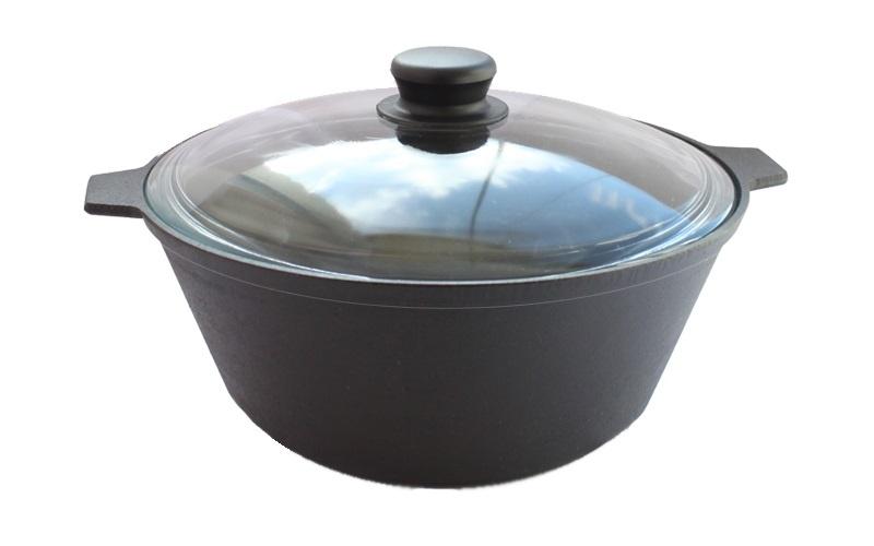 Фото - Кастрюля Камская посуда, 4 л, стеклянная крышка посуда для приготовления пищи