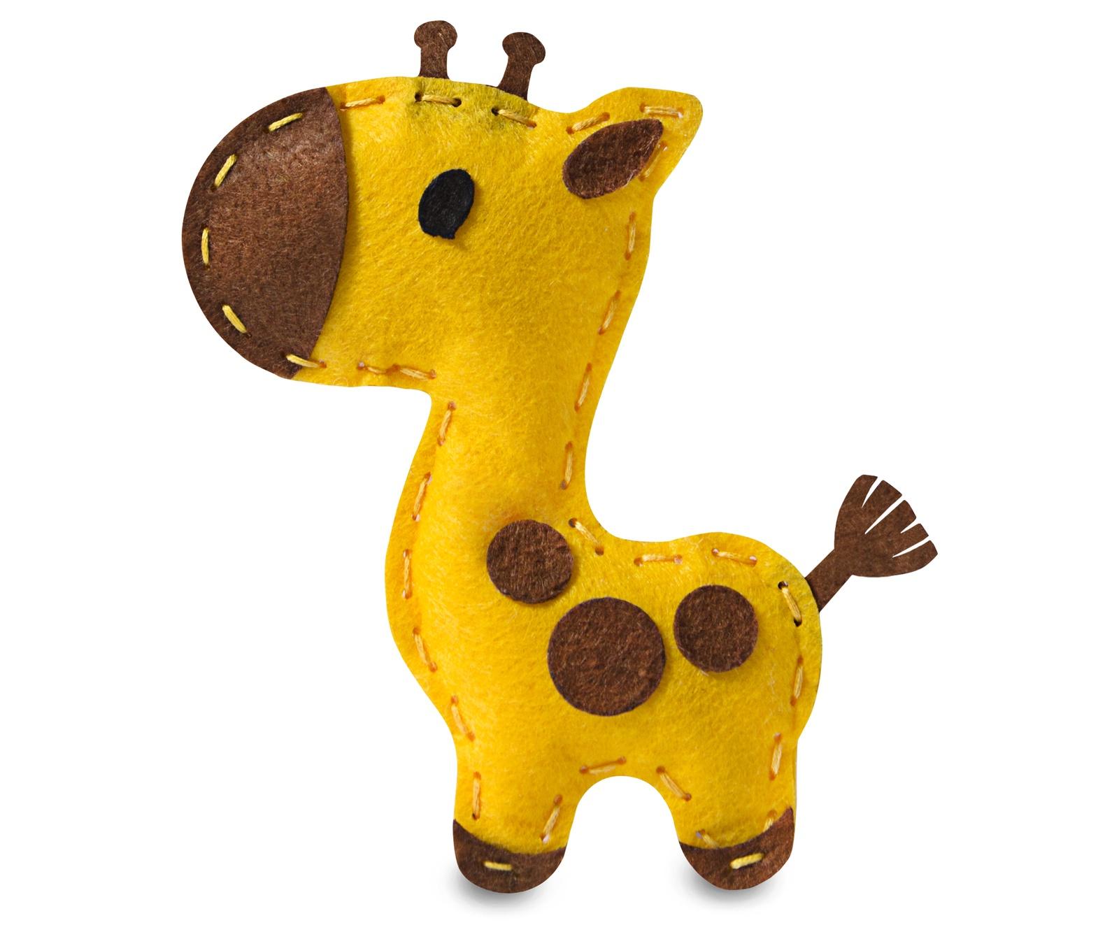 купить Набор для изготовления игрушки Feltrica шьем из фетра мягкая игрушка Жираф по цене 249 рублей