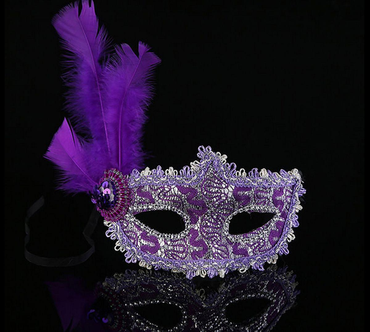 цена на Маска карнавальная Magic Time Фиолетовая с перьями. 41842