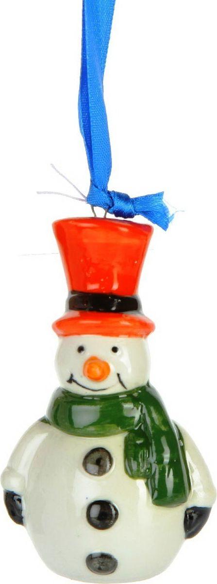 Новогоднее подвесное елочное украшение Magic Time Снеговик. 75909 magic time новогоднее подвесное елочное украшение гномик из керамики