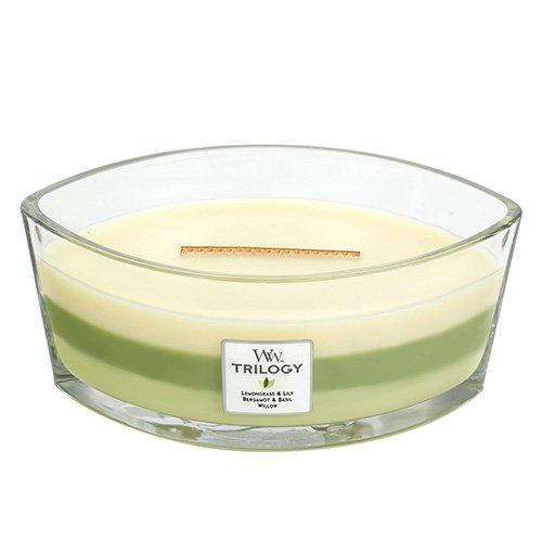 Ароматическая свеча - эллипс Woodwick Зелёный оазис ароматическая свеча woodwick гранат эллипс