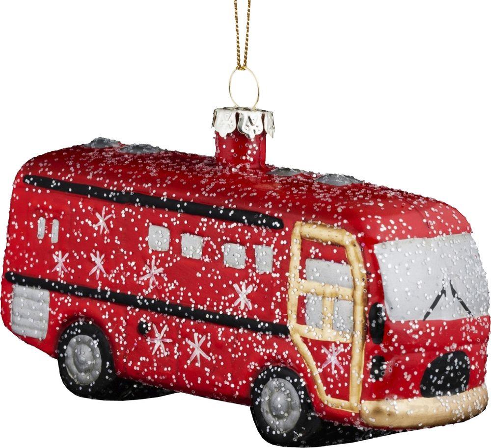 Игрушка елочная Erich Krause Decor Автобус, 11 см украшение елочное шар красный с блестками 13 см красный полимерный материал
