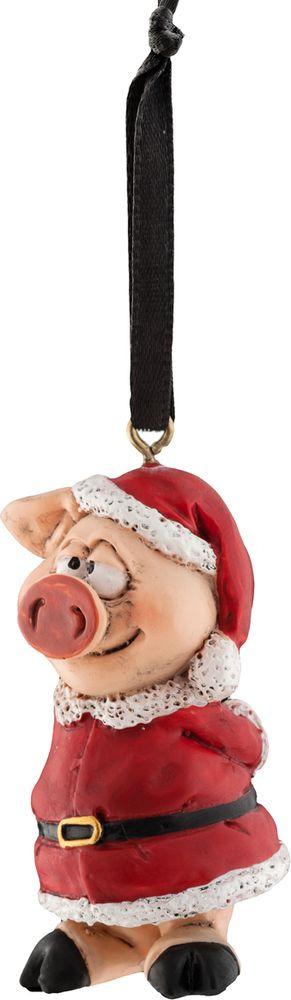Игрушка елочная Erich Krause Decor Новогодний поросенок, 5 см erich krause сувенир пес в ошейнике 11 см