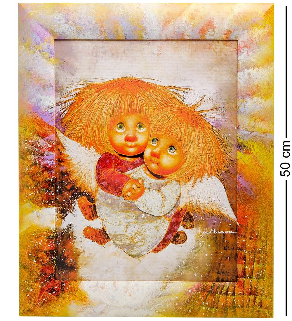 Фото - ANG-406 Жикле в раме ''Ангелы теплых чувств'' 30х40 ang 79 жикле в раме ангел надежды и веры 30х40