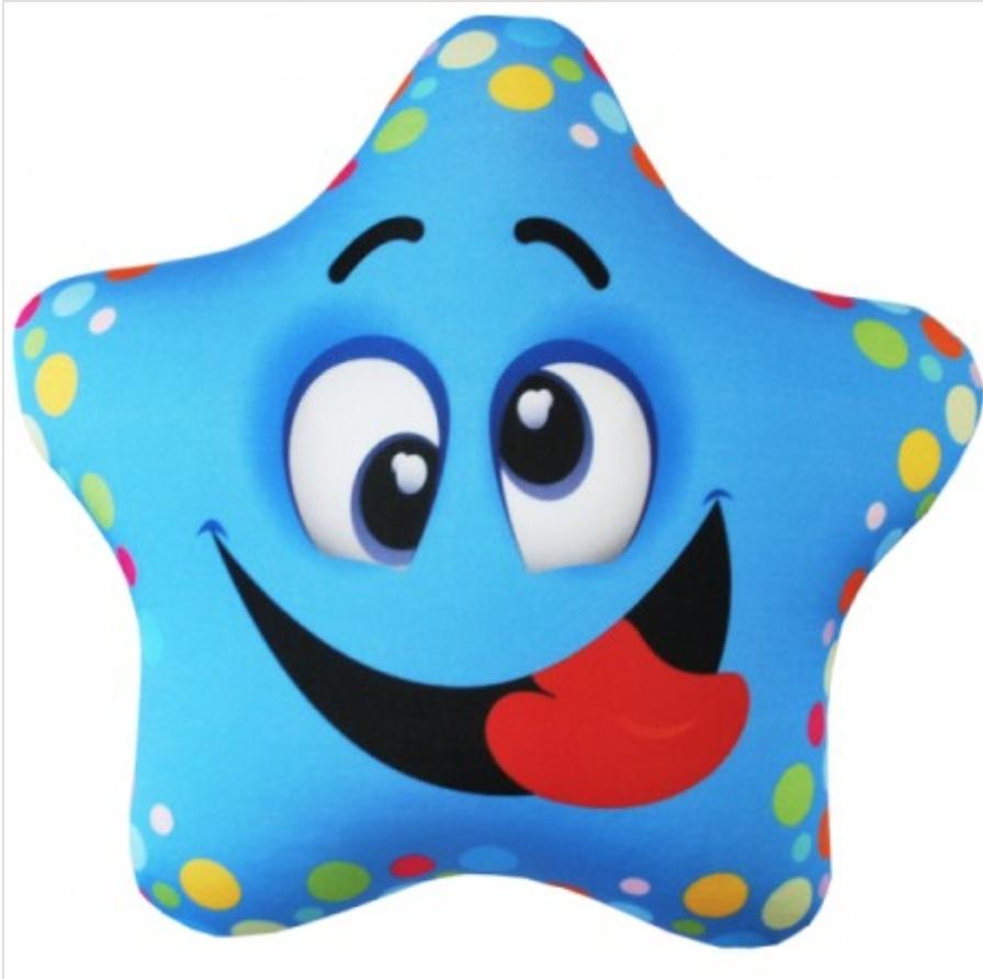Мягкая Игрушка Звезда голубая Оранжевый Кот668-Аи17зве10Ткань - трикотаж (полиэстер, латекс, спандекс) Наполнитель - гранулы вспененного полистирола