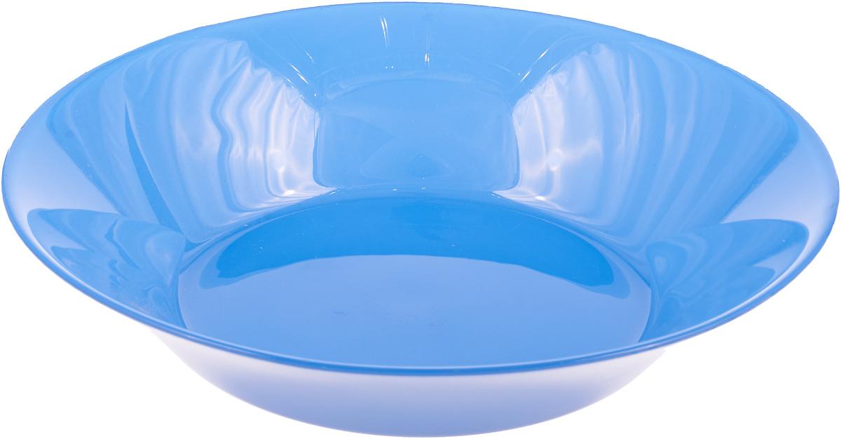 Фото - Тарелка глубокая Pasabahce Блю виллаж, цвет: синий, диаметр 22 см тарелка turon porcelain атлас цвет белый синий золотистый диаметр 22 5 см