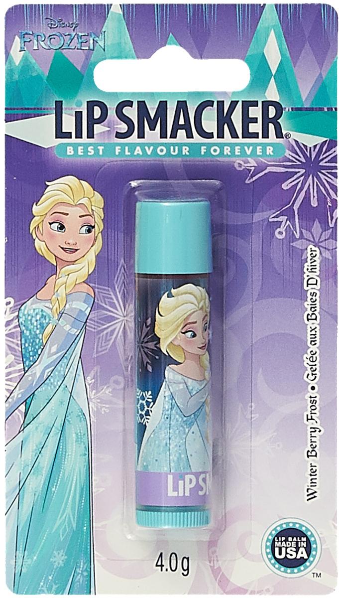 Бальзам для губ Lip Smacker Disney Elsa Winter Berry Frost, с ароматом Зимняя Ягода, 4 г косметика для мамы nivea lip care бальзам для губ ромашка и календула 4 8 г