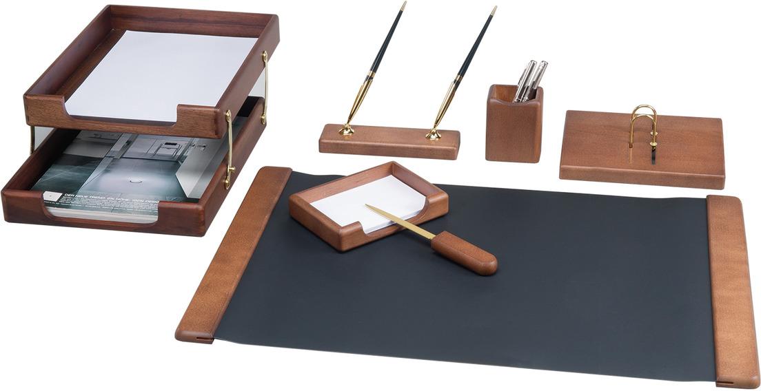 Набор письменных принадлежностей Bestar Charon, 236392, орех, 7 предметов подставка для бумажного полотенца regent