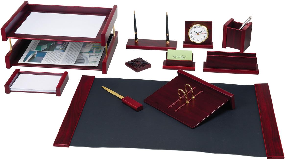 Набор письменных принадлежностей Bestar Platon, 236373, красное дерево, 11 предметов подставка для бумажного полотенца regent