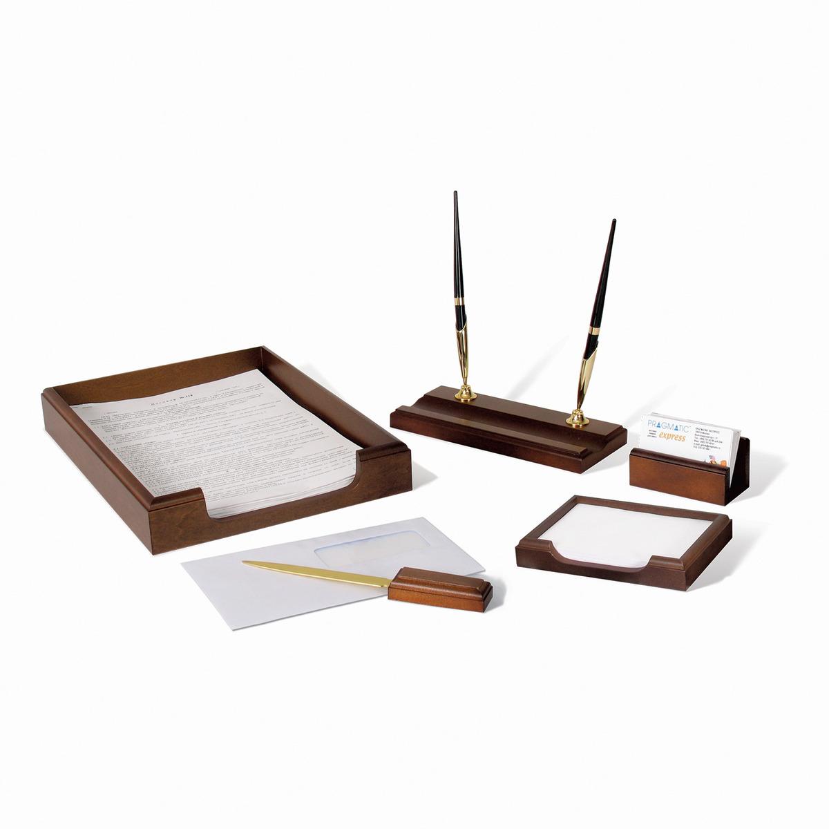 Набор письменных принадлежностей Bestar Neptun, 236371, орех, 5 предметов подставка для бумажного полотенца regent