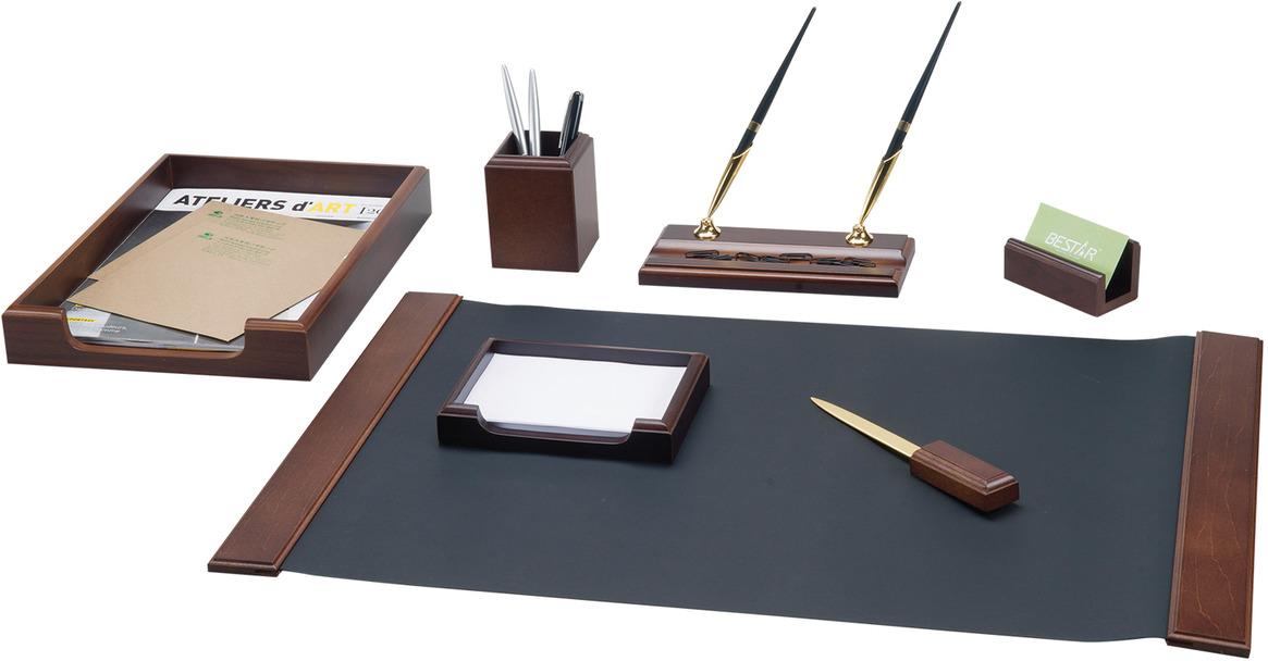 Набор письменных принадлежностей Bestar Hermes, 236363, орех, 7 предметов подставка для бумажного полотенца regent