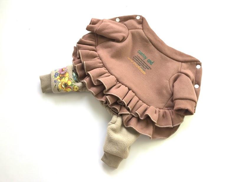 "Комбинезон зимний Arnydog ""Юбочка"" для собак, BF9601-1_s, коричневый, размер S, 22 см"