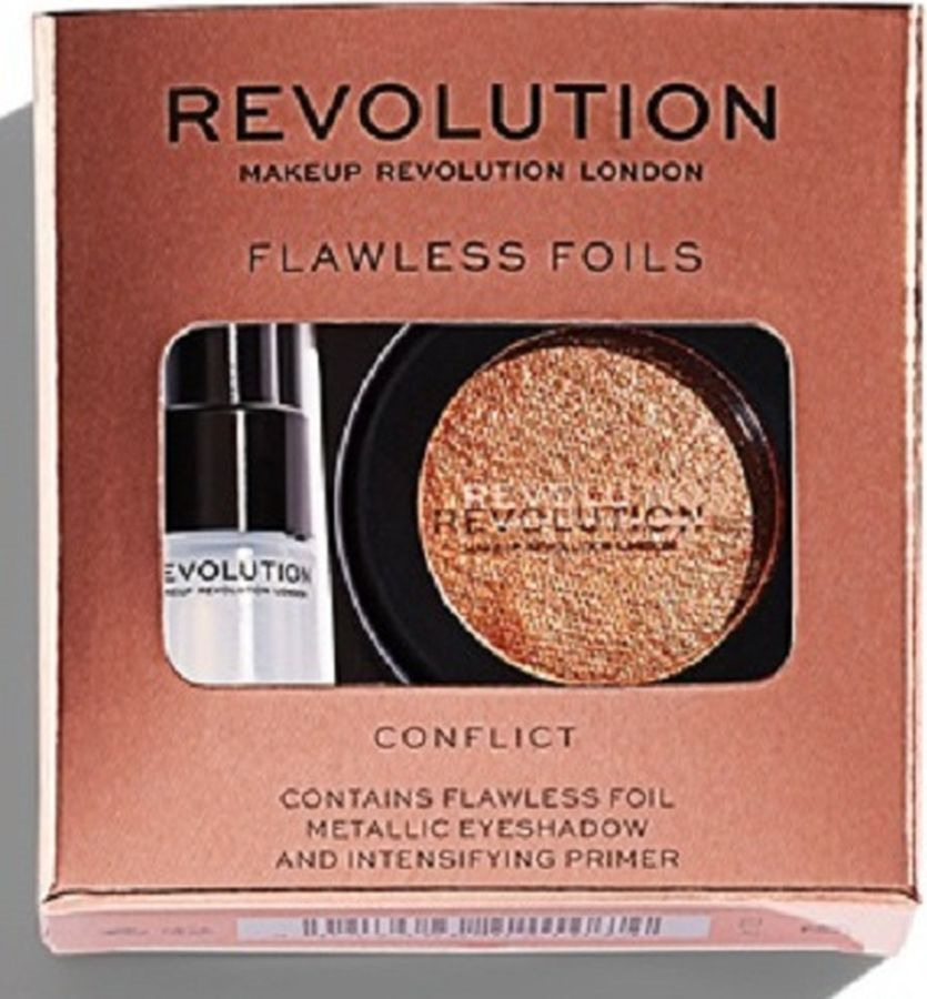 Тени и праймер Makeup Revolution Flawless Foils Conflict, 2 г мл