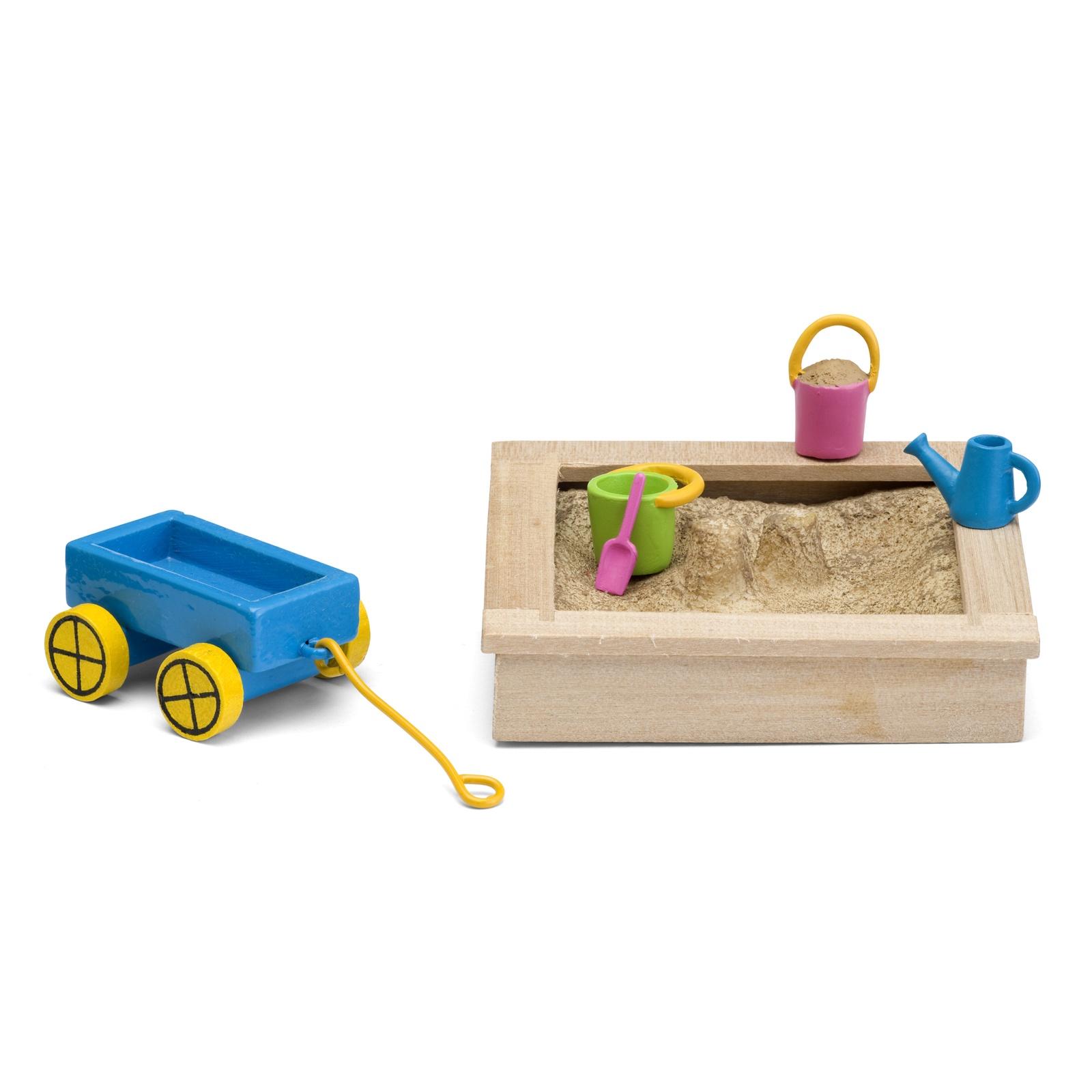 Игровой набор для домика Lundby Смоланд. Песочница с игрушками, LB_60509600 аксессуары для домика смоланд lundby батут с машинкой