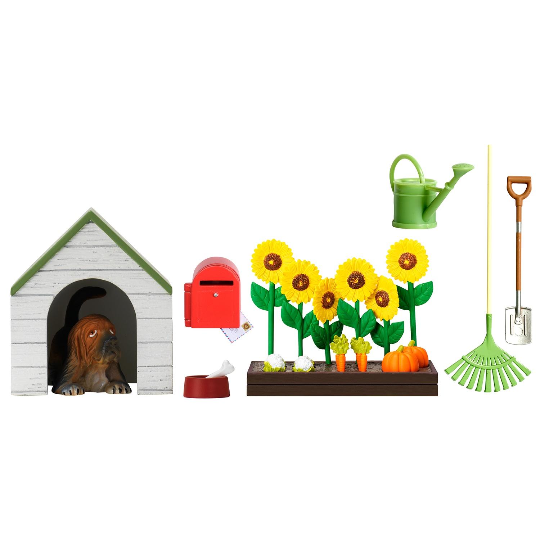 Фото - Игровой набор для домика Lundby Смоланд. Садовый набор с питомцем, LB_60509000 аксессуары для домика lundby смоланд батут с машинкой