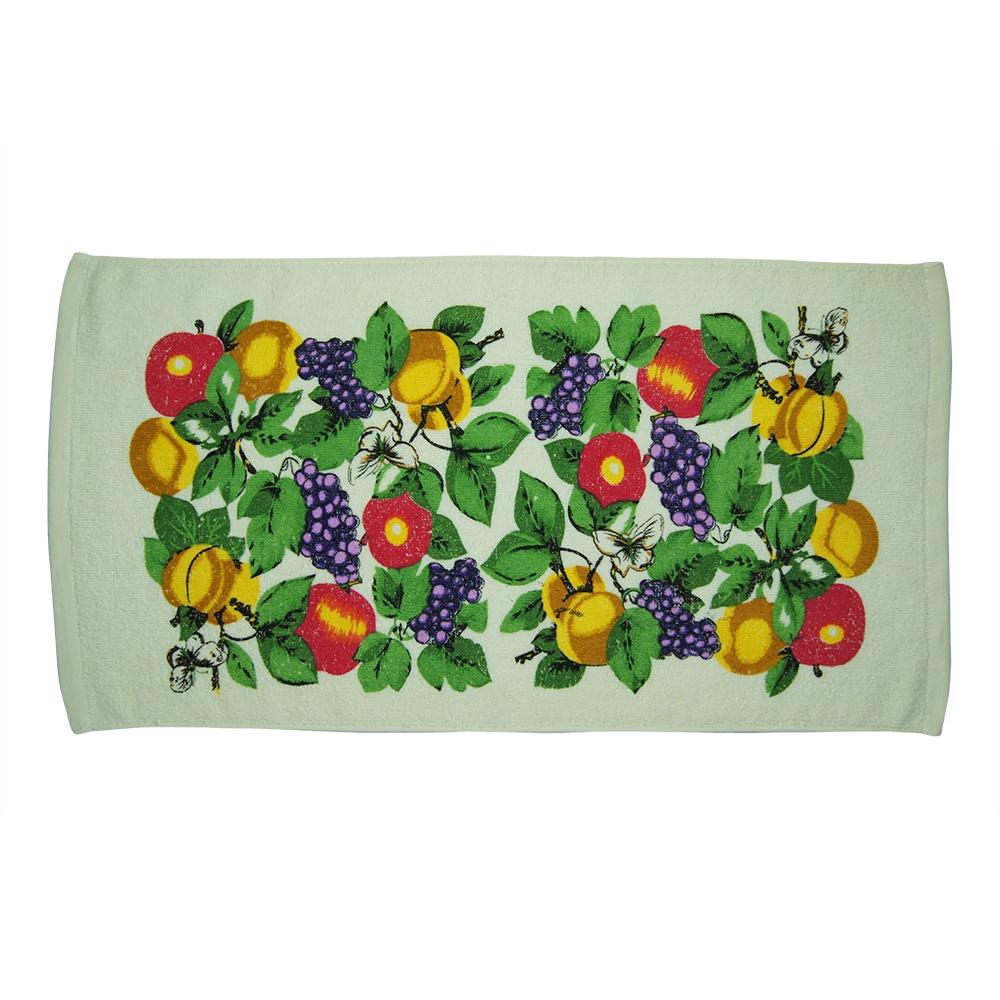 Полотенце кухонное UTEX Полотенце кухонное, А1312/персики, виноград, бежевый полотенце кухонное utex полотенце кухонное а1312 кофе хлопок