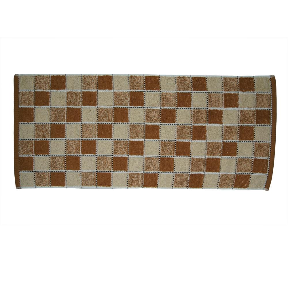 Полотенце кухонное UTEX Шахматная клетка, ПК6-009, коричневый, 34 x 74 см полотенце кухонное utex полотенце кухонное а1312 кофе хлопок