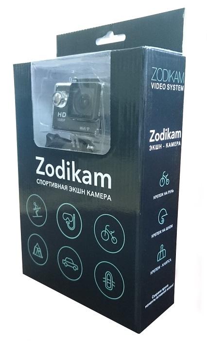 Экшн камера Zodikam Z50W Black (12МП, 1920x1080, 170 градусов, 2 дюйма, 900 mAh, WiFi) видеорегистратор zodikam dvr 10