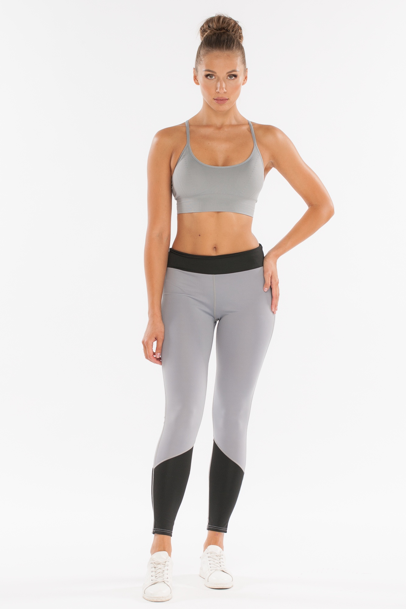 Леггинсы женские Morera, цвет: Черный/Серый. Размер 48.92006 BLACK/GREY (XL)Леггинсы для фитнеса, бега.