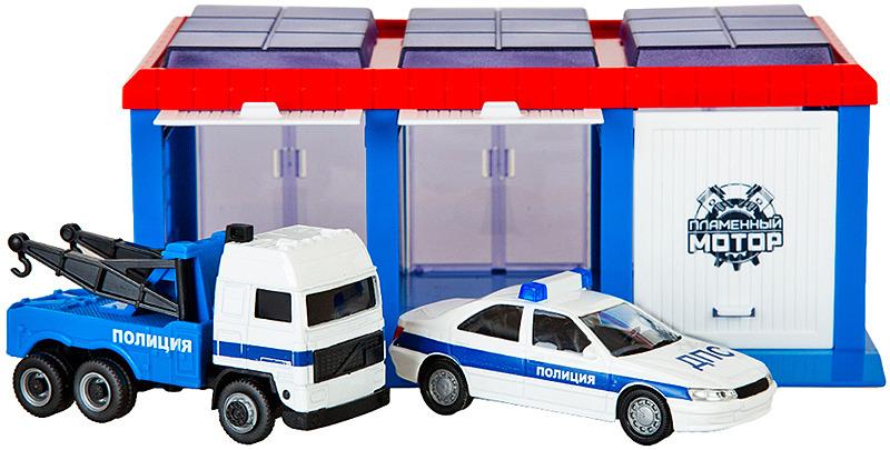 Парковка Пламенный мотор Гараж Полиция ДПС, 870273 модель машины пламенный мотор porsche panamera s 1 43 в ассортименте