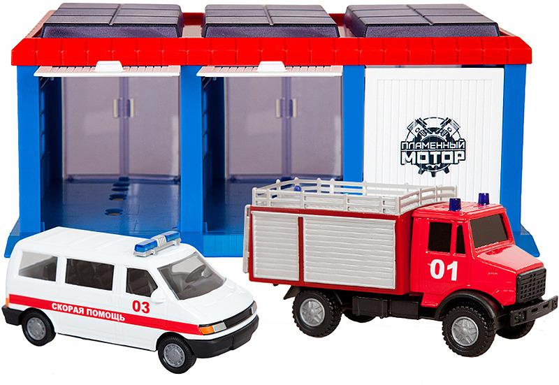 Парковка Пламенный мотор Гараж Служба спасения, 870274 автомобиль пламенный мотор bentley continental gt3 1 43 белый мет откр двери 6927858701412
