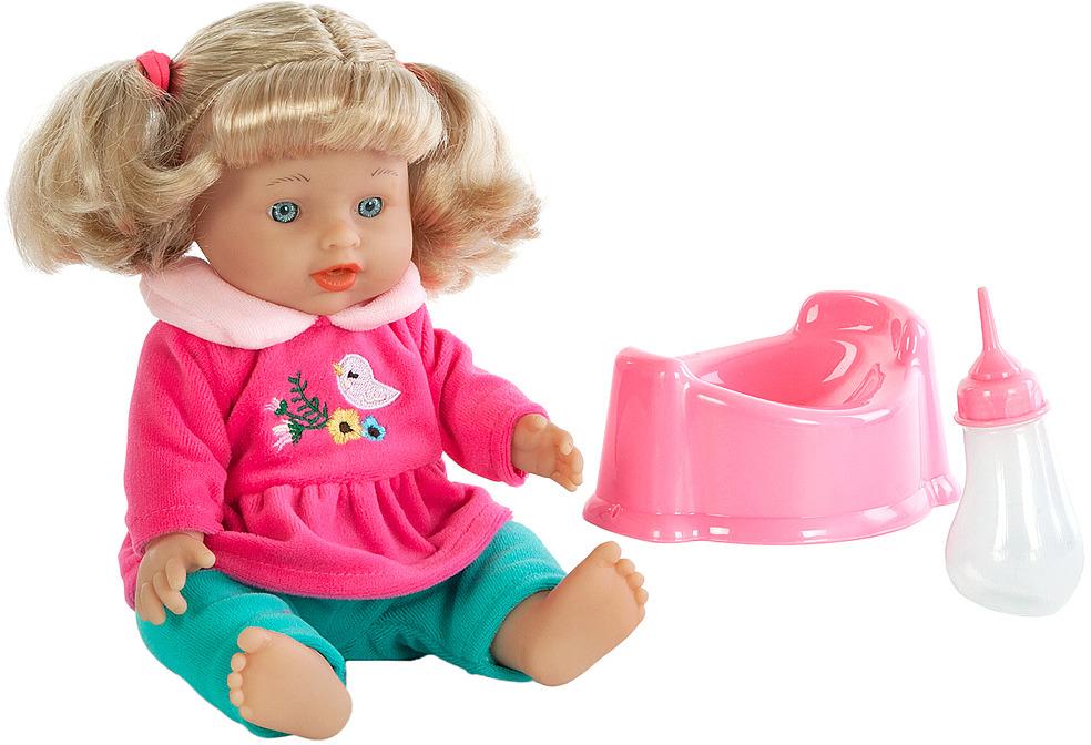 Кукла Mary Poppins Лизи. Пью и писаю, 451225, 30 см451225Трогательная малышка Лизи из эксклюзивной коллекции торговой марки Mary Poppins. Если напоить куколку из бутылочки и посадить на горшок, она пописает. В комплекте горшок и бутылочка для куклы. Высота игрушки составляет 30 см. Рекомендованный возраст: 3 года +.