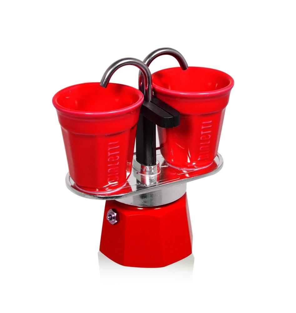 Гейзерная кофеварка Bialetti MINI Express 2 порции + 2 чашки кофеварка гейзерная bialetti moka induzione 3 порции сталь 4922