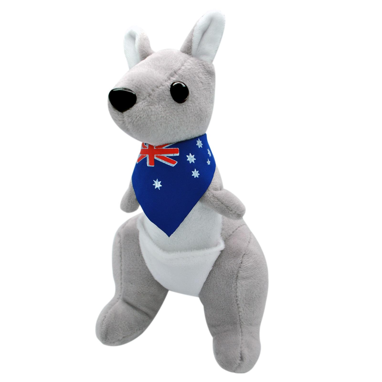 Мягкая игрушка АБВГДЕЙКА Кенгурёнок серый, 20 см, игрушка мягкая, KG00042