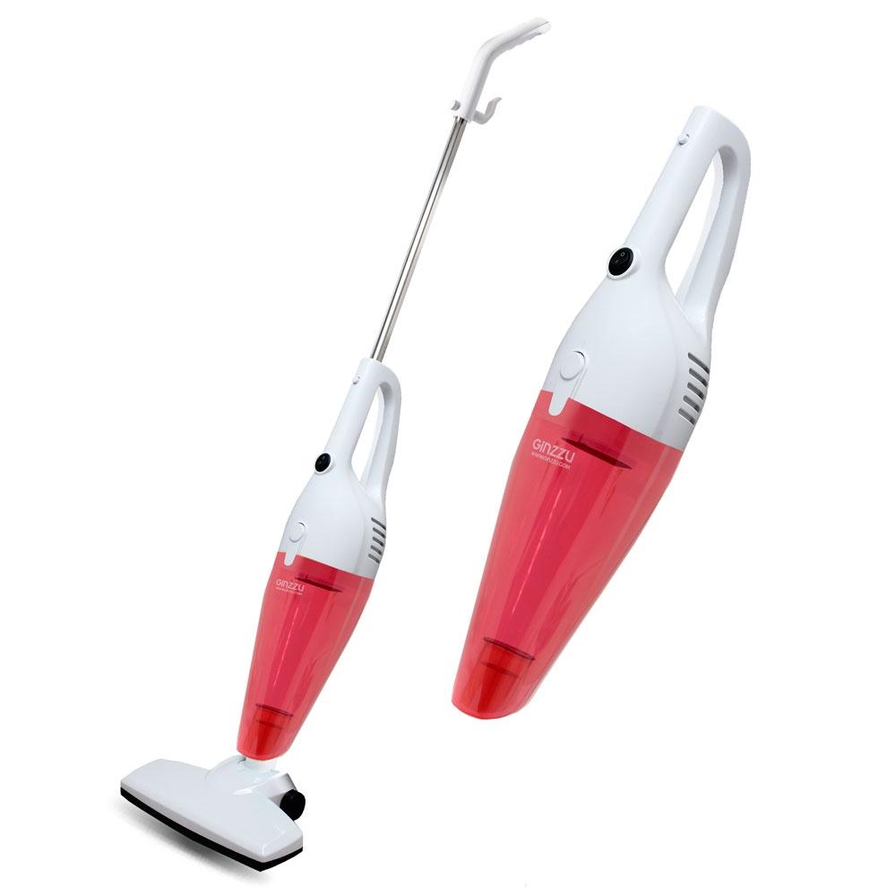 Вертикальный пылесос Ginzzu VS101, красный Ginzzu