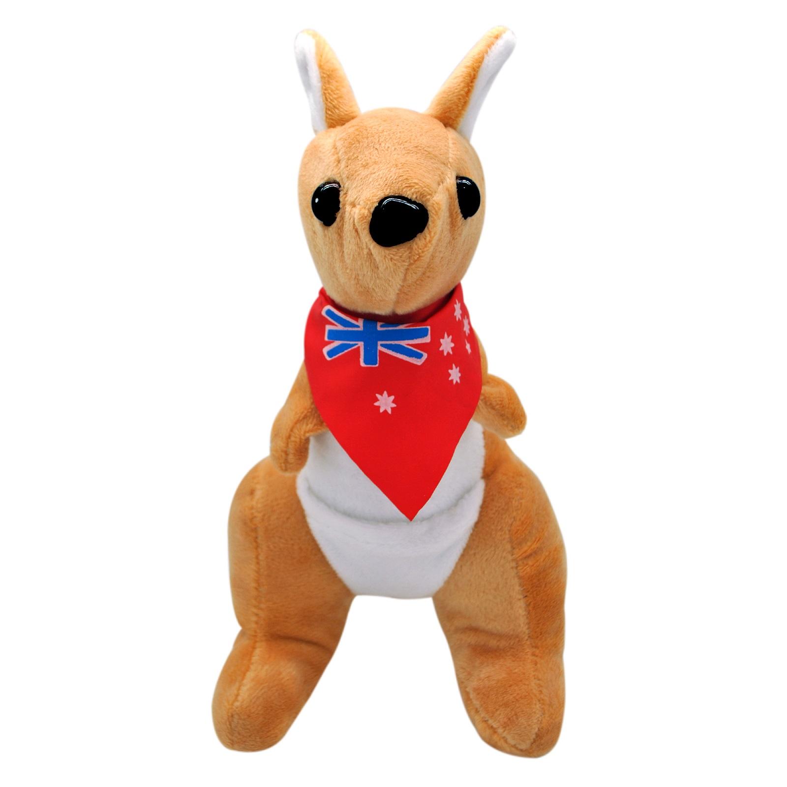 Мягкая игрушка АБВГДЕЙКА Кенгурёнок бежевый, 20 см, игрушка мягкая, KG00041