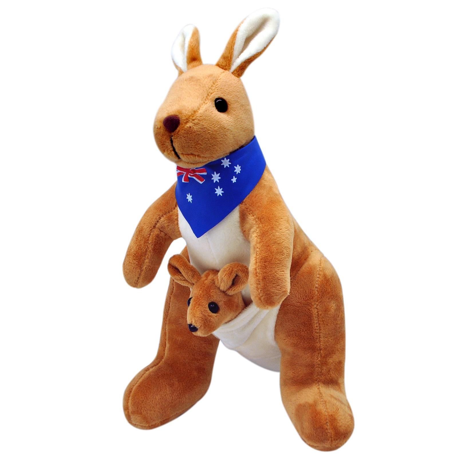 цены на АБВГДЕЙКА Мягкая игрушка Кенгуру с кенгуренком, 30 см  в интернет-магазинах