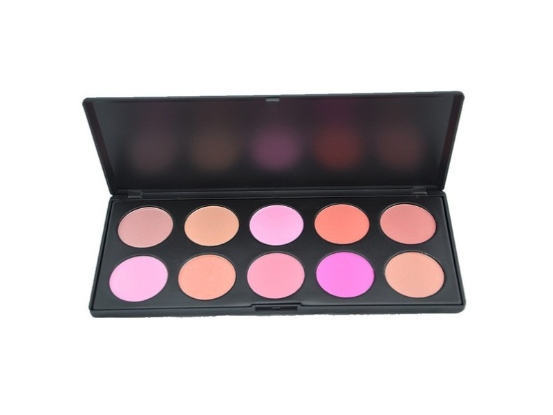 Палитра румян 10 цветов Visage Cosmetics SFPA010A палитра пудры visage cosmetics 6 цветов