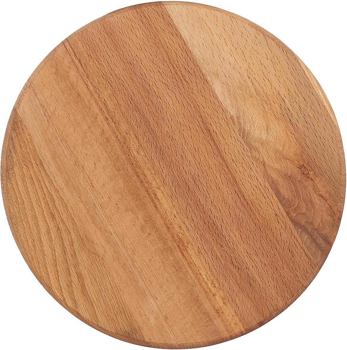 Доска разделочная Mayer & Boch, 21901, светло-коричневый, для пиццы, диаметр 27 см21901Разделочная доска является необходимым атрибутом любой кухни. Разделочные доски из бука отличаются высокой износостойкостью, красивой фактурой дерева, влагоустойчивостью. Уход за разделочными досками из бука несложен чтобы они не впитывали неприятные запахи, после использования их необходимо помыть в горячей воде, а затем тщательно вытереть. Можно хранить в подвешенном состоянии. Прочный материал позволит эксплуатировать доску долгое время, а классический дизайн придется по вкусу многим хозяйкам.