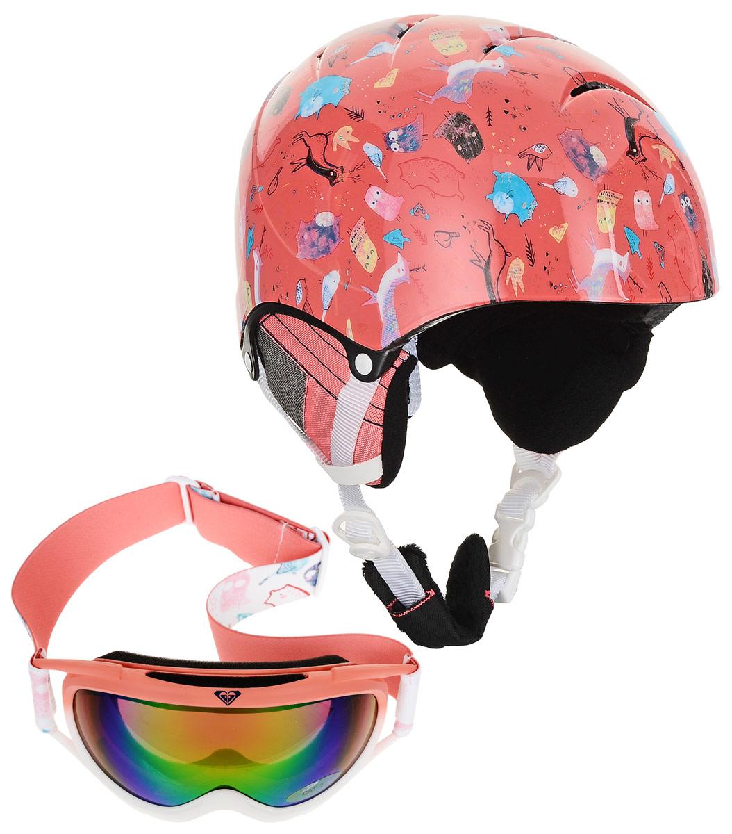 Шлем для горных лыж и сноуборда Roxy MISTY GIRL PCK G HLMT MHG0, цвет: розовый. Размер 54 цена