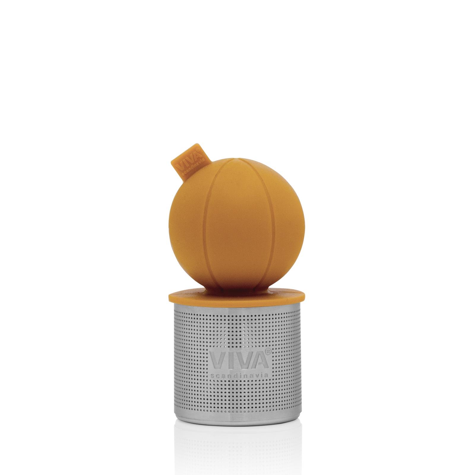 Ситечко Viva scandinavia Поплавок V77653 для заваривания чая, оранжевый