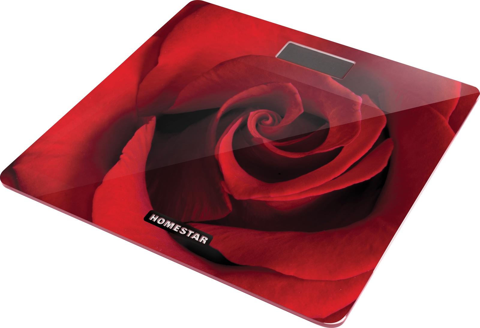 Весы напольные электронные HomeStar, HS-6002B, красный HomeStar