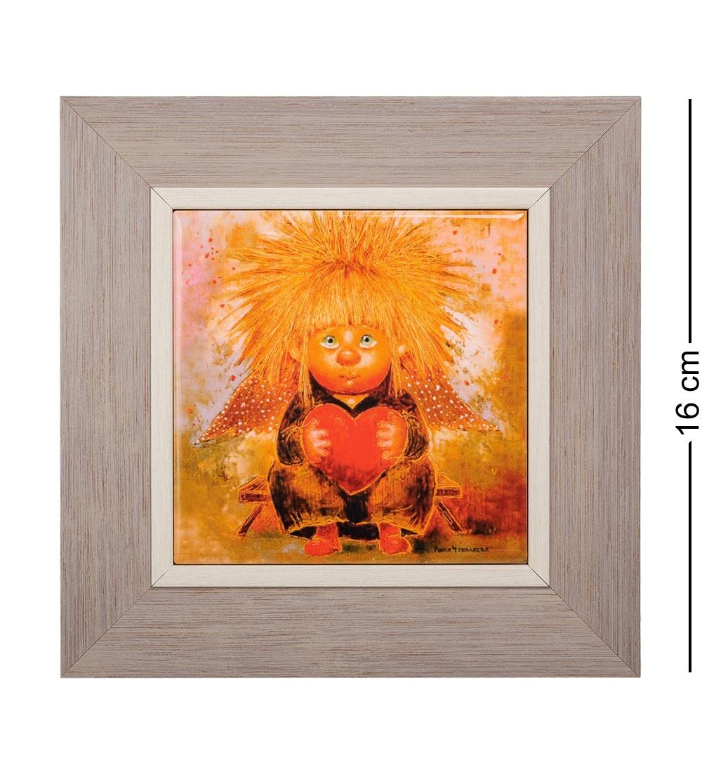 ANG-102 Панно керамическое Ангел любящего сердца 10х10