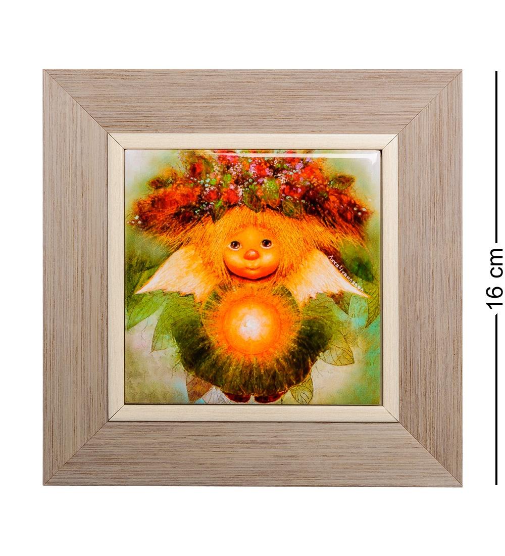 ANG-311 Панно керамическое Солнечный ангел 10х10