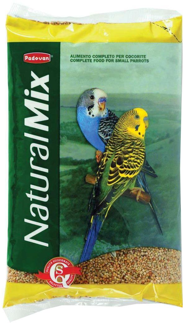 Корм Padovan Naturalmix Cocorite для волнистых попугаев, 1 кг padovan корм padovan lino для птиц зёрна льна 1 кг