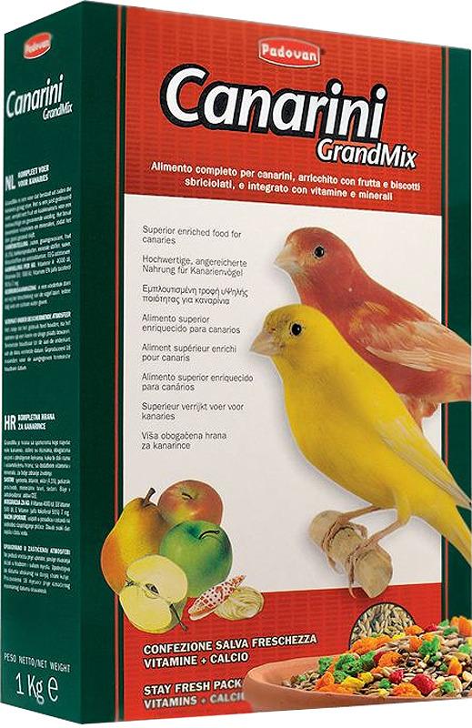 Корм для канареек Padovan Grandmix Canarini, 1 кг padovan корм padovan lino для птиц зёрна льна 1 кг