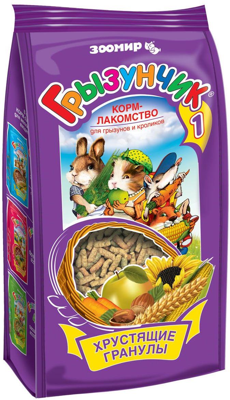 Корм-лакомство Зоомир Грызунчик, для грызунов и кроликов, 150 г корм грызунчик для хомяков морских свинок мышей крыс зерновые орешки с фруктовым ароматом 250г