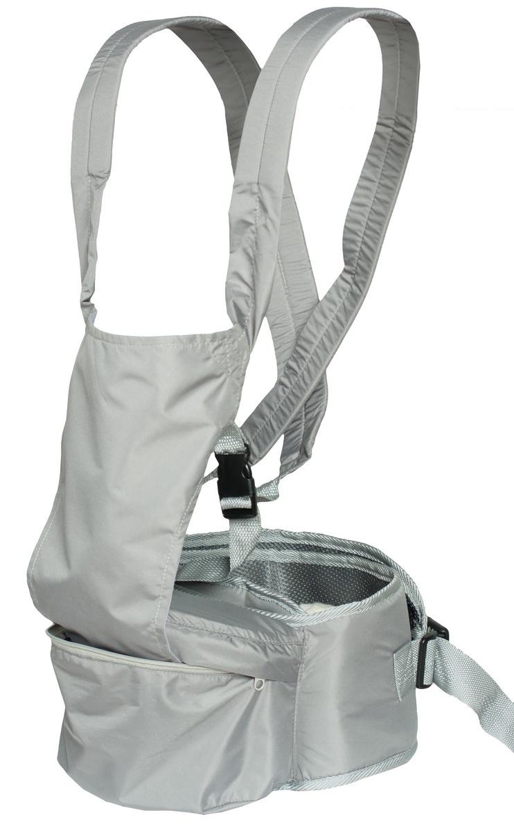 Хипсит-рюкзак Непоседа Чудо-Чадо, ПНР01-004, серый mum s era хипсит со спинкой комфорт цвет бордо черный