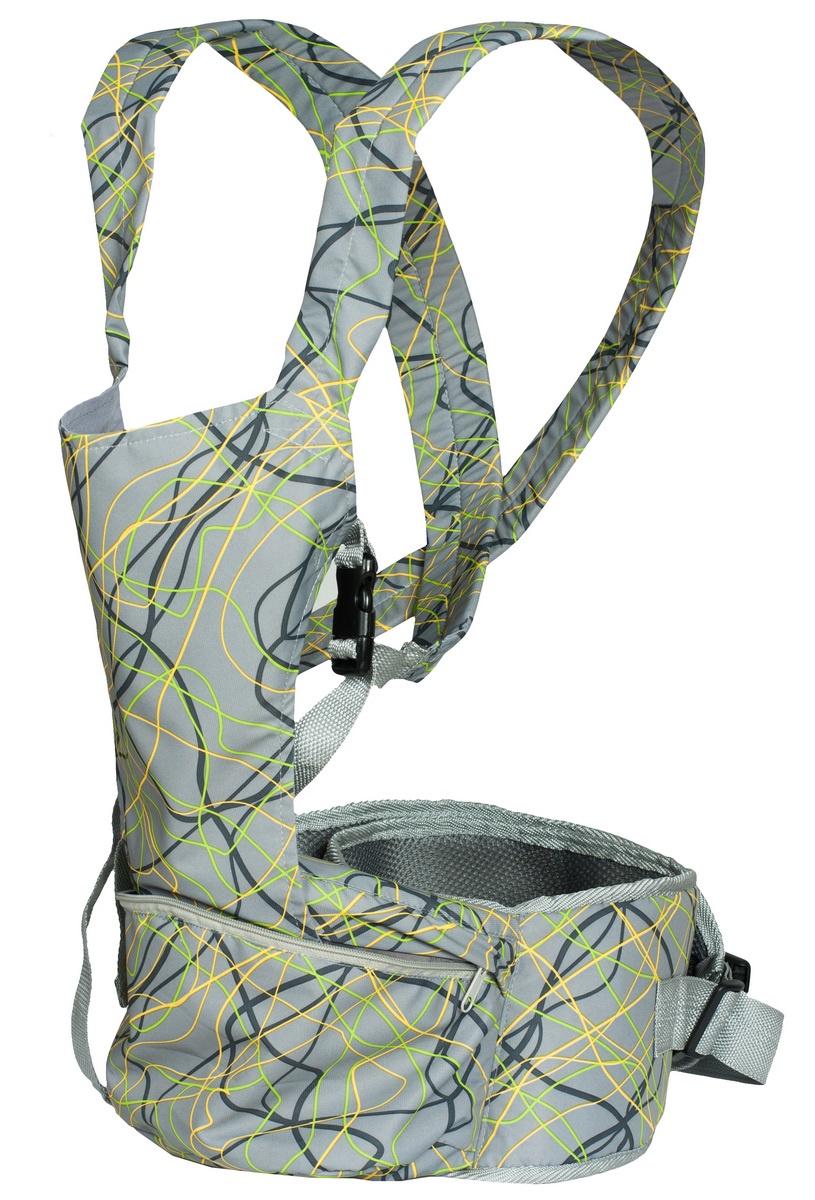 Хипсит-рюкзак Непоседа Чудо-Чадо, ПНР06-004, серый mum s era хипсит со спинкой комфорт цвет бордо черный