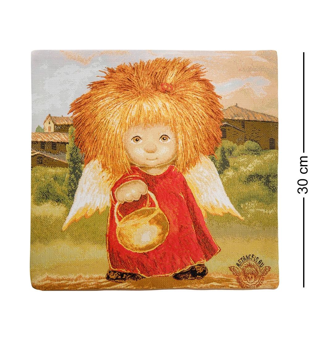 ANG-390 Наволочка гобеленовая ''Ангел освещающий жизненный путь'' 35х35 les gobelins декоративная наволочка ocean 35х35