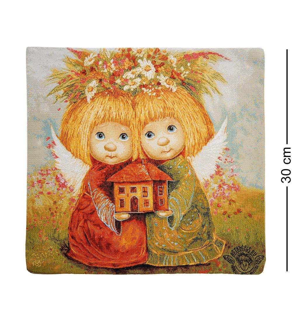 ANG-394 Наволочка гобеленовая ''Ангелы хранители дома'' 35х35 les gobelins декоративная наволочка ocean 35х35