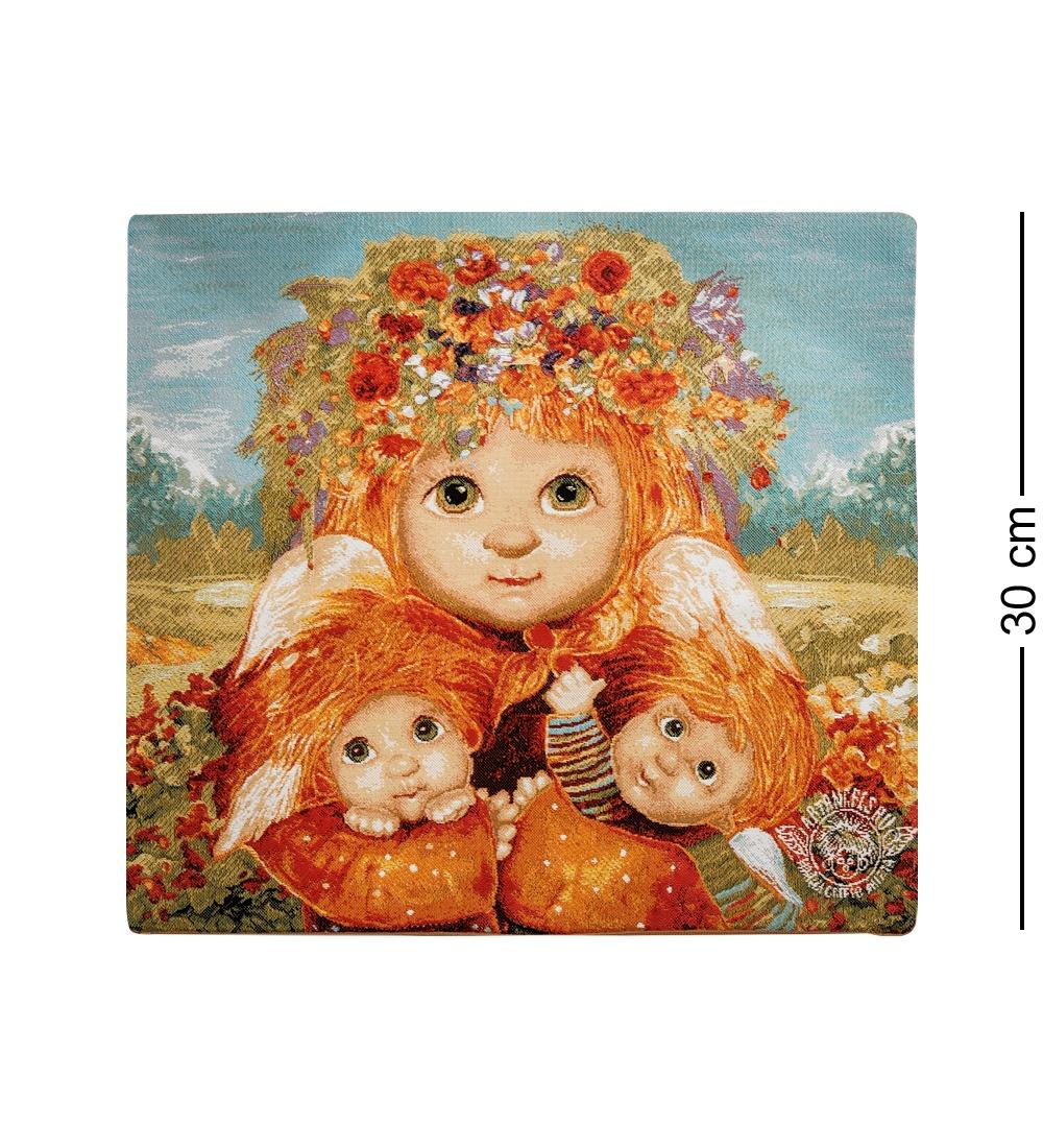 ANG-418 Наволочка гобеленовая ''Ангел самая лучшая мама'' 35х35 les gobelins декоративная наволочка ocean 35х35