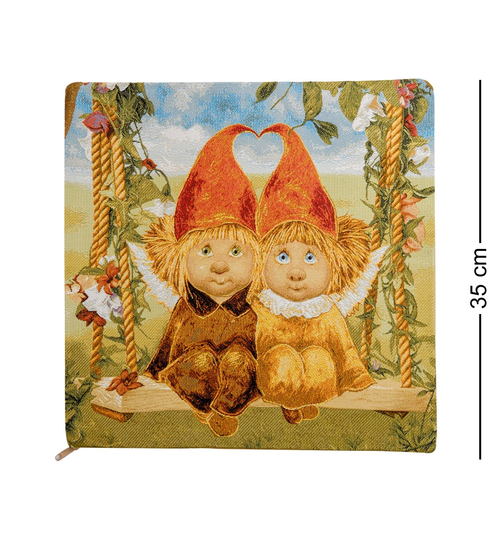 ANG-436 Наволочка гобеленовая ''Ангелы вечной любви'' 35х35 les gobelins декоративная наволочка ocean 35х35